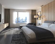 酒店木质墙板,酒店墙板定制