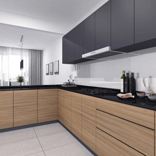 在现代厨房中使用抗倍特板
